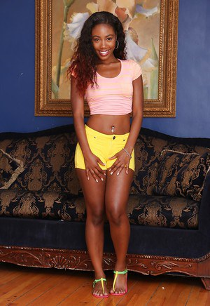 Undressing scene features an Ebony pornstar babe Chanell Heart