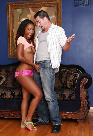 Hardcore ass fucking scene features a tiny tits Ebony pornstar Chanell Heart