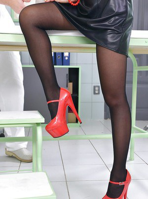 Asian babe with long legs PussyKat takes part in a foot fetish scene
