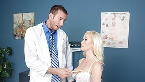 Blonde Madison Scott was drilled hard in the massage cabinet