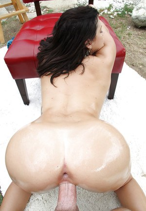 Dark-haired chisel with nice obese boobies is banging in the joint