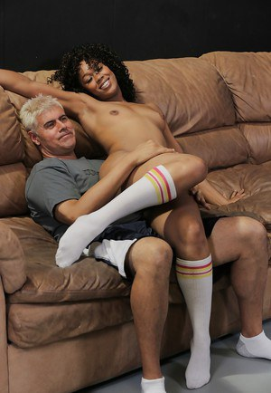 Alluring lady Misty Stone give a blowjob and swallow juicy sperm
