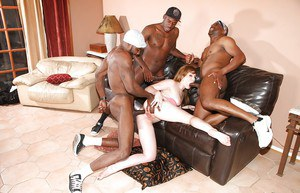 Big hard black dicks are fucking slender whitey babe Jennifer White