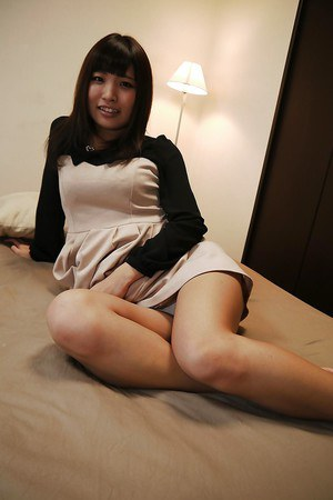 Ayame Yashiro poses in the bedroom in doggy style position so hot
