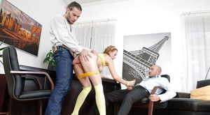 Office fucking with a hardcore anal drilling of a nice cutie Lolly