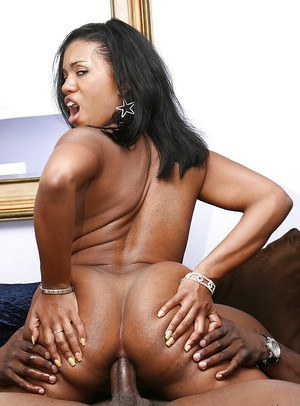 Ebony Sydnee Capri love to feel giant black dick in her anal booty