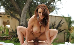 Beautiful mature woman Janet Mason fuck deep in her her anal