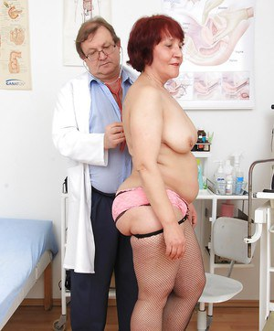 Alluring redhead old woman Manka was fucked with medical tools