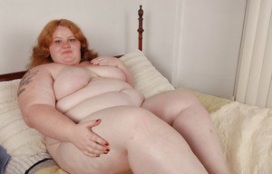 Awesome SSBBW video with spicy as hell fat woman Ruby in her bedroom