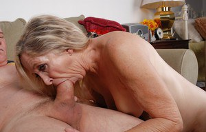 Blonde granny Annabelle is banging with this not so young man