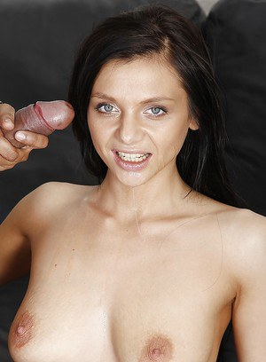 Interracial fucking session with slender brunette Anita Sparkle