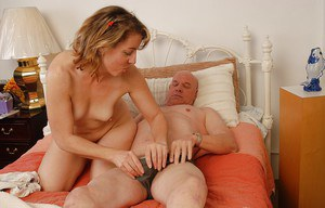 Mature one Christie is sucking dick of this bald man and swallowing