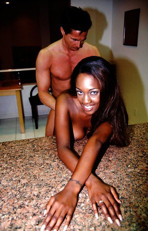 Ebony Naomi B is demonstrating her nice dick-swallowing skill