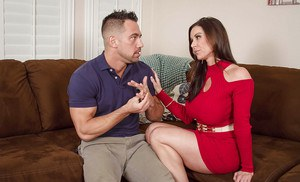 Beauty with long tongue Kendra Lust fucks with her new friend