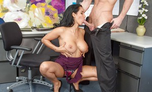 Latina Isis Love fucks with her hardcore coworker with pleasure
