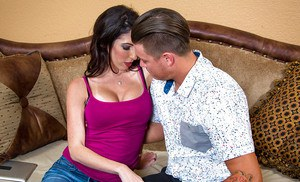 Latina Dava Foxx was pounded in her small but pretty comfort mouth