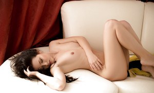 Teen with innocent face Milena is showing off her great naked shape