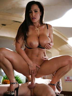 Milf Lisa Ann gives a gorgeous blowjob and rides on this hard dick