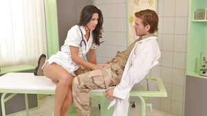 Nurse Alexa Tomas is sucking this tasty hard prick and swallowing