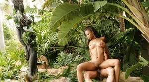 Ebony Marie Luv was drilled pretty hard in her wide-opened pussy
