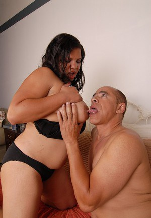 Fatty Latina LadySpice is getting a load of sperm in her lovely pussy