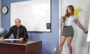 Sexy secretary Jillian Janson is banging with her hardcore boss