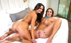 Ava Addams and Eva Notty are showing off their big juicy boobies