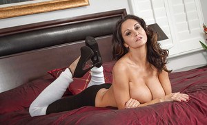 Big-tit brunette Ava Addams undresses very hot in slowly way