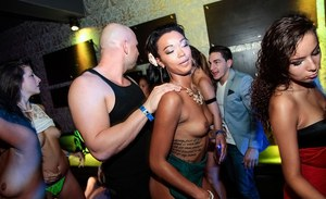 Stunning party with big booty bitches and cock-sucking girls
