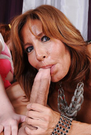 Two cuties Tara Holiday and Meloney Danells are giving a blowjob