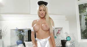 Maid Capri Cavanni is demonstrating her amazing big boobies!