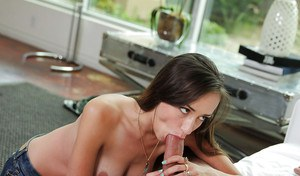 Sexy Victoria Rae Black is sucking and licking this nice-looking dick