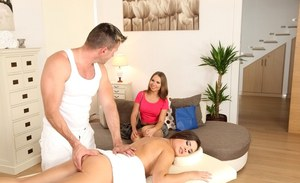 European model is getting a tasty load of sperm in her tight throat