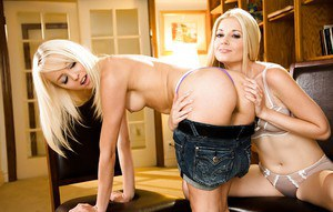 Teens blondes Sierra Nevada and Charlotte Stokely are having nice sex
