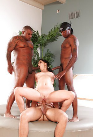 Hardcore interracial gangbang with awesome brunette Charity Bangs