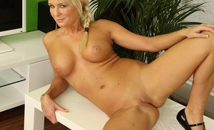 Big-tit beauty blonde Chloe Deluxe is penetrating her lovely hole