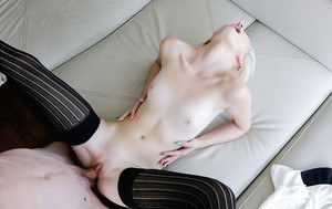 Amazing blonde with nice face Maddy Rose fucks in hardcore mode