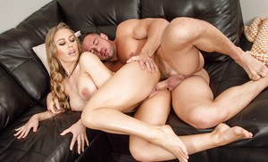 Mature wife Nicole Aniston is banging hard in her tight vagina