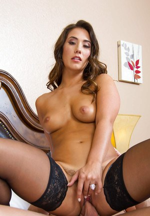 Tanned milf Eva Lovia gets cum on face after kissing with this dick