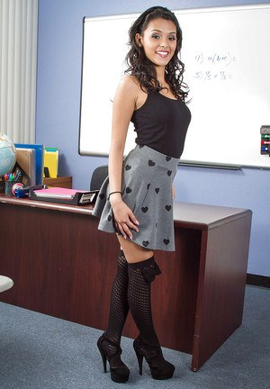 Young babe Josie Jagger undresses in her office as hot as she can