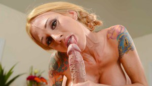 Wife milf Sarah Jessie was drilled with force in her shiny vagina
