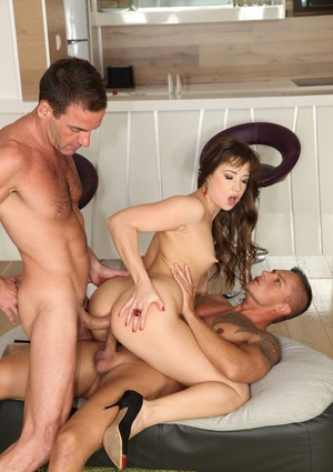 Taissia Shanti is getting double penetrated in this amazing scene