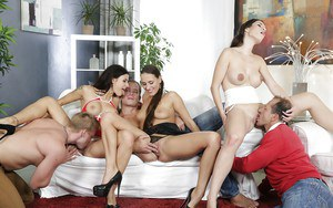 Alluring chicks Mea Melone and Isabella Noir are having awesome sex