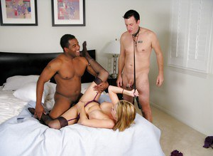 Big black fucker is drilling sensual blonde Katie Kox in her face