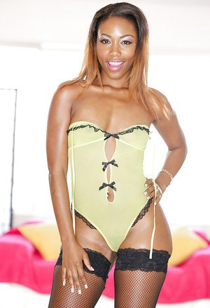Ebony milf Chanell Heart poses in some awesome seductive positions
