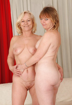 Spicy grannies Sara D and Jane C are showing their big tits!