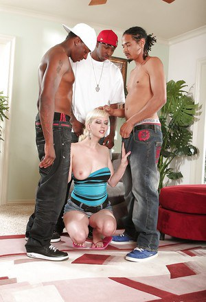 Interracial gangbang with an awesome young blonde Cherry Torn