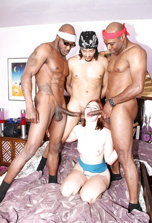 Insane interracial gangbang with redhead bombshell Jodi Taylor