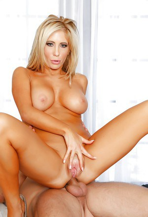 Tanned blonde with cite face Tasha Reign fucks in her anal hole