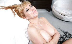Hardcore milf Sasha Sean is getting screwed hard in her tight vagina